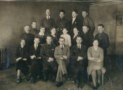 Учителя и мастера. Касков Л.А. крайний справа во втором ряду